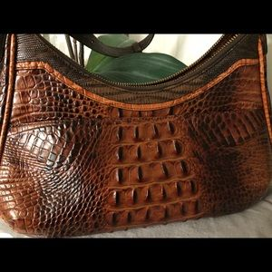 Brahmin Bags - Brahmin brown croco handbag